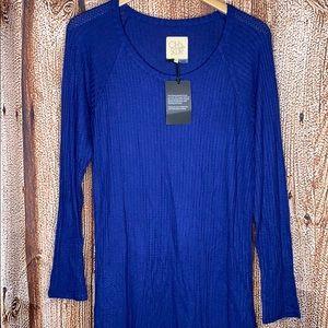 Chaser XL Blue Thermal Shirt Top XL NWT